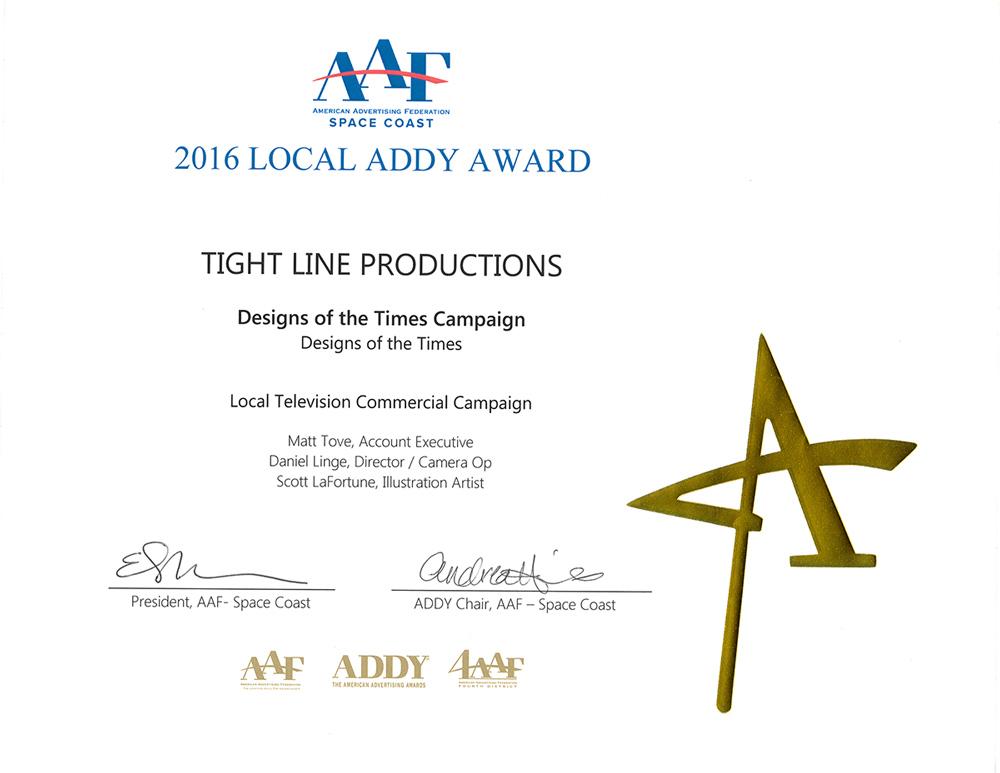 2016 Addy Award