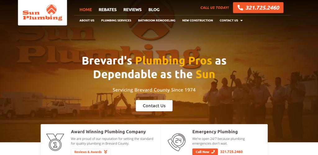 Sun Plumbing Website