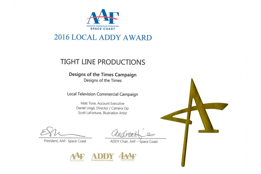 Tight Line Productions Wins Gold Addy Award