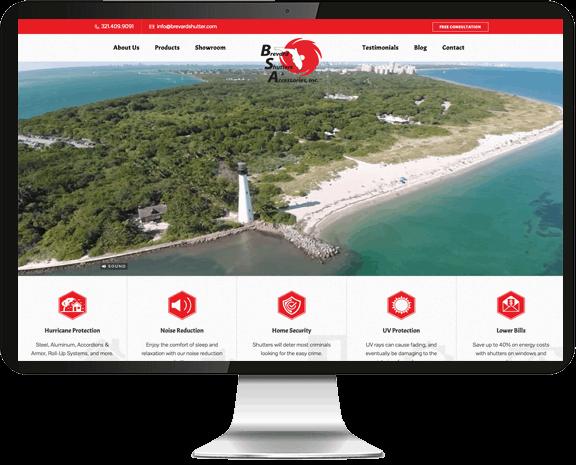 Brevard Shutter Web Design