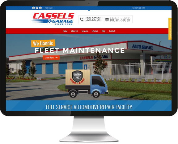 Cassels Garage Web Design