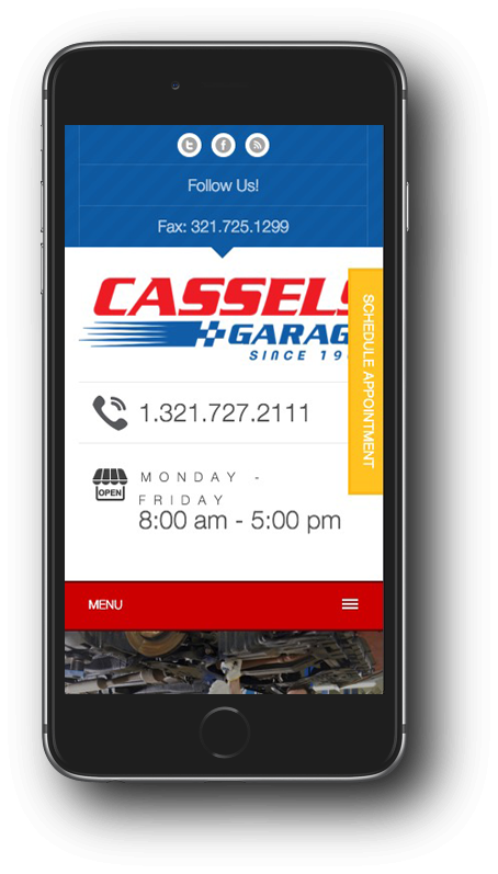 Cassels Garage Mobile Design