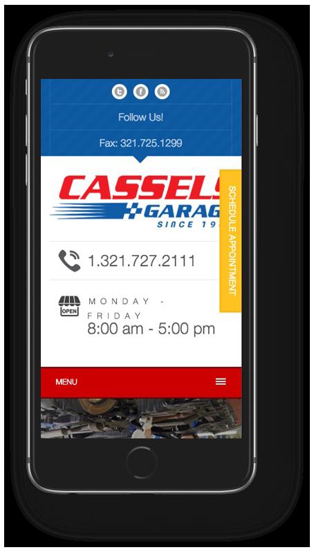 Cassels Garage Mobile Design