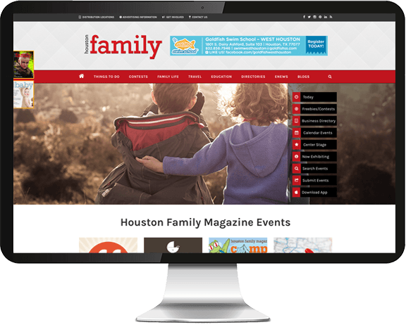 Houston Family Magazine Web Design