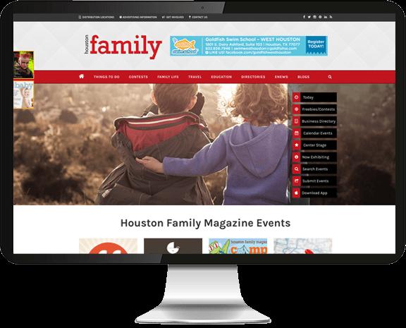 Houston Family Magazine Web Design