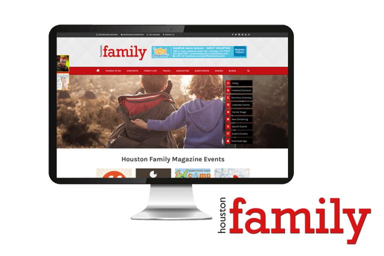 Houston Family Magazine website launch