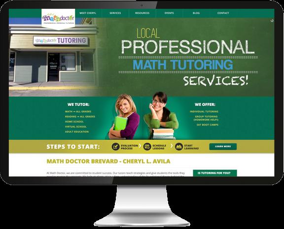 Math Doctor Website Design