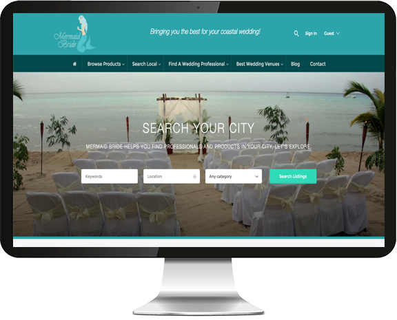 Mermaid Bride Web Design