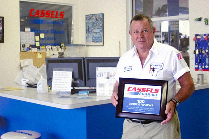 Cassels Garage Google Reviews Award