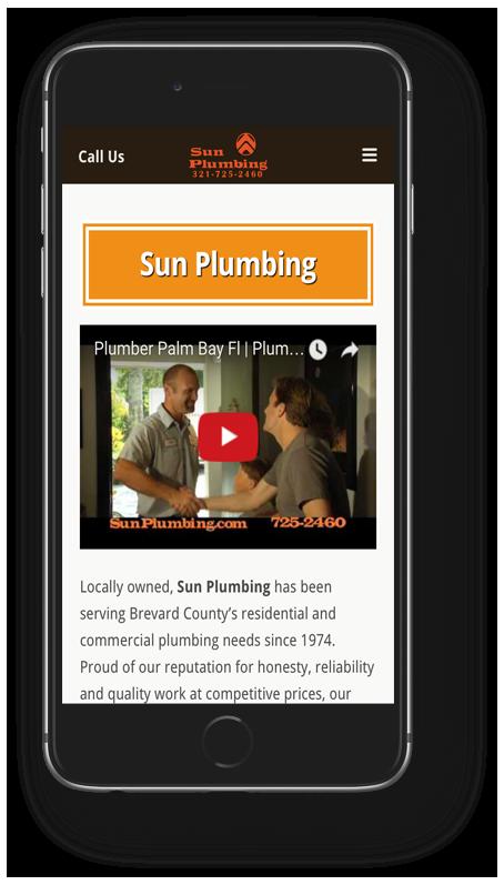 Sun Plumbing Mobile Design
