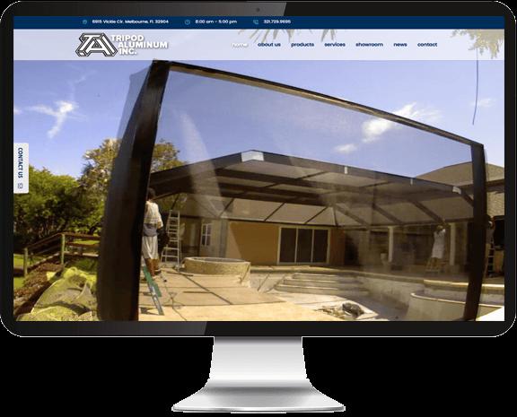 Tripod Aluminum Web Design